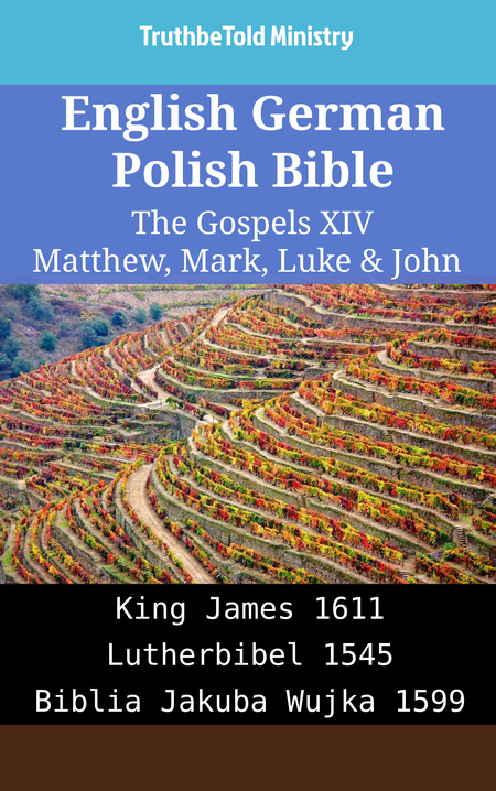 English German Polish Bible - The Gospels XIV - Matthew, Mark, Luke & John